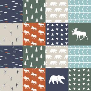 adventure camp patchwork (moose and bear) || adventure camp