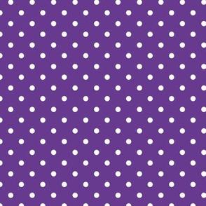 Polka Dot - White on Purple