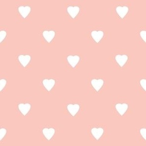 Oh Baby White Hearts on Pastel Pink