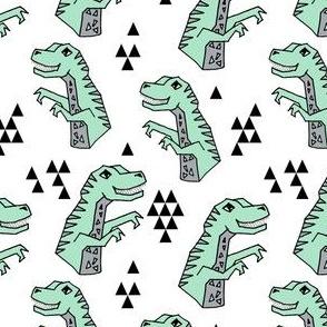 dinosaurs // trex dino fabric mint dinosaur fabric mint kids trex design andrea lauren fabric