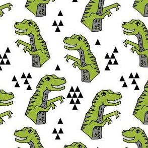 dinosaurs // lime green dino fabric t-rex fabric tyrannosaurus design andrea lauren fabric