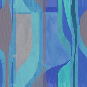Midcentury Plateau-cobalt vertical