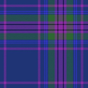 "Spirit of Scotland tartan - blue 7"""