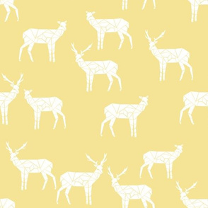 deer // pastel yellow fabric baby nursery animals deer andrea lauren fabric
