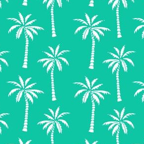palm tree // bright green palms fabric palm tree fabric tropical palm prints