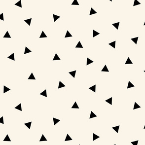 Black triangles (large) on ivory || scattered