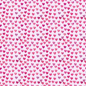(micro print) watercolor hearts