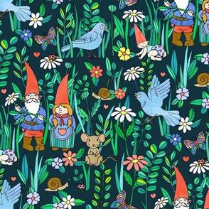 Gnome Family Love - green version
