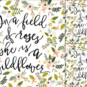 1 blanket + 2 loveys: in a field of roses, she is a wildflower // blush sprigs