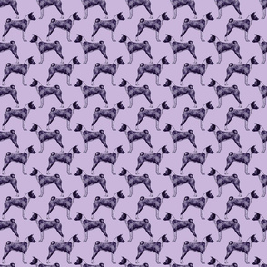 Standing Basenji - small purple