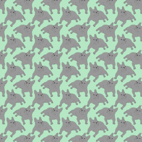 Tinted French Bulldog sketch - small green