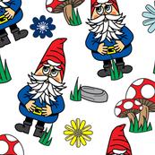 Gnome flower garden