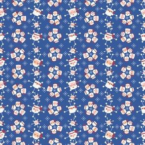 Atomic Santa Mugs Blue Small Scale