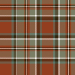 Stewart / Stuart #3 weathered ancient tartan, 10""