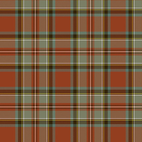 Stewart / Stuart #3 weathered ancient tartan, 7""