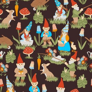 Gnaturally Gnomes on Brown