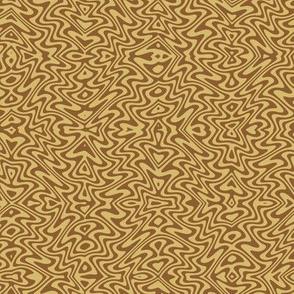 small art nouveau swirls - caramel and brown