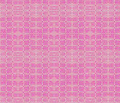 Crocheting Into Fabric : crochet_hot_pink fabric by gothic_colour on Spoonflower - custom ...