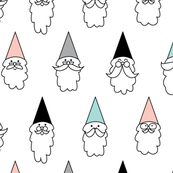 Happy Hipster Gnomes With Mustaches And Beards