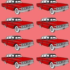 Big 1960 Edsel Ranger in red