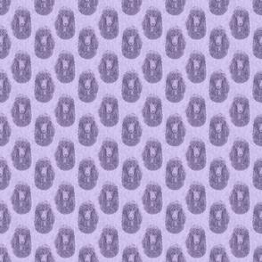 Irish Water Spaniel faces - small purple