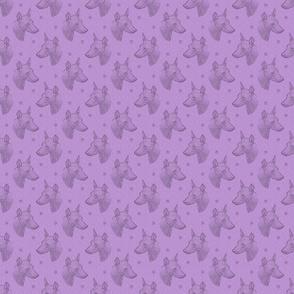 xoloitzcuintli face stamp - small purple