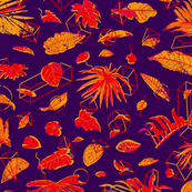 Botanical Geometry: vintage [purple]