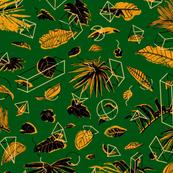 Botanical Geometry: vintage [green+black]