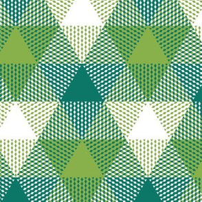 triangle gingham -  spruce and fresh green