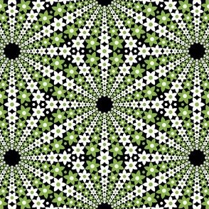 flower mandala : green