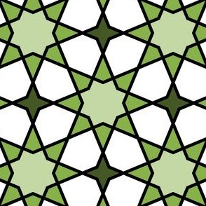 octagonal star : green