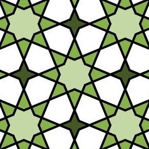 octagonal star : green