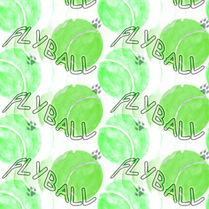 Flyball watercolor tennis balls - green