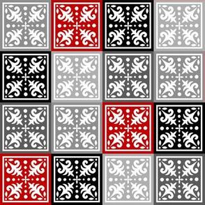Miniquilt (Larger Size) - Rouge et Noir