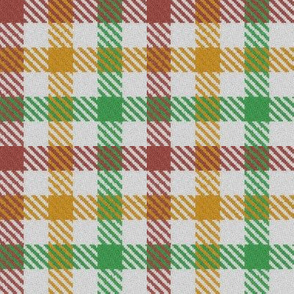 Tricolor Gingham Brown Yellow Green