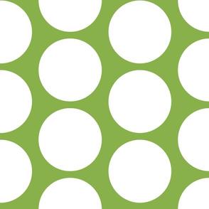 GIGANTIC White Polka Dots on Greenery