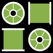 cotton reel check : green