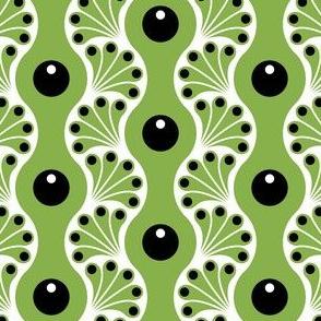 wavy splash : green