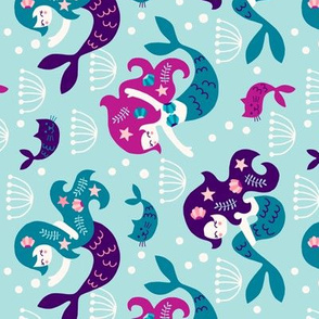 Mermaids in purple (rotated)