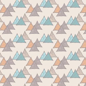 Triangles striped diagonal light