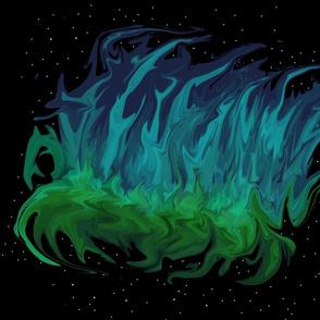 Aurora Borealis - Feather Dusting