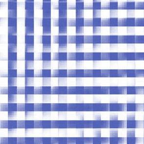 XL glitchy plaid in morning blue