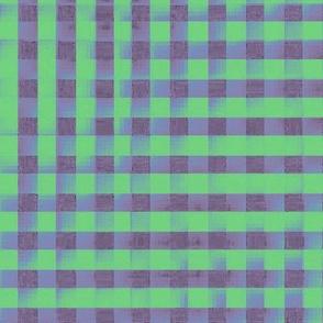 XL glitchy plaid - grey, green, blue