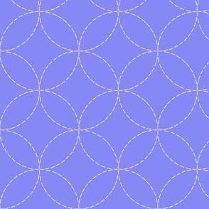 faux sashiko embroidery on periwinkle