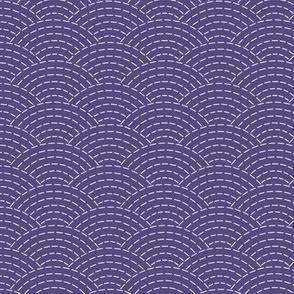 faux sashiko scallop on soft purple