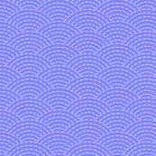 faux sashiko scallop on periwinkle