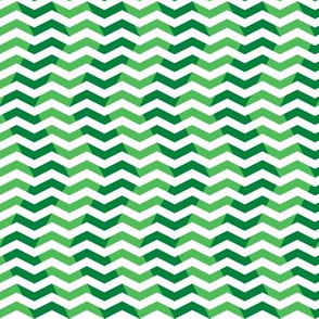 wavy chevron - candy cane green, small