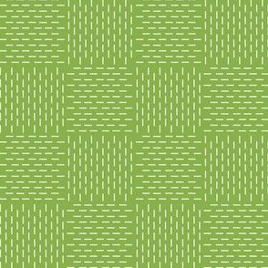 faux sashiko weave on fresh green