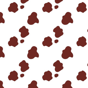 Brown spotted cow hide