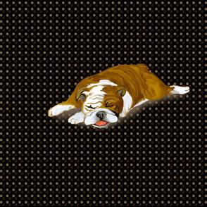Snoozing Bulldog for Pillow